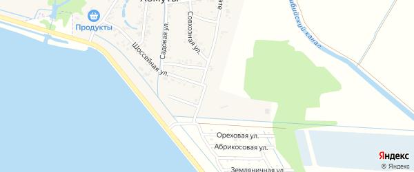 Шоссейная улица на карте Лесного садового некоммерческого товарищества с номерами домов