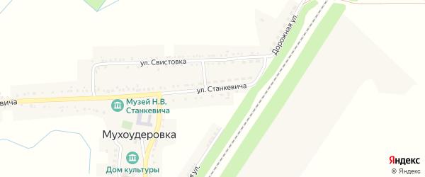 Улица Н.Станкевича на карте села Мухоудеровки с номерами домов