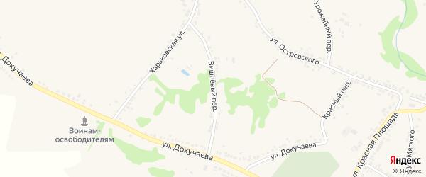 Вишневый переулок на карте поселка Ровенек с номерами домов