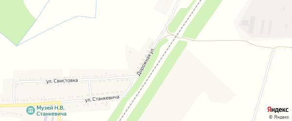Дорожная улица на карте села Мухоудеровки с номерами домов
