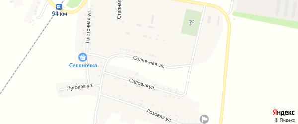 Зеленая улица на карте села Мухоудеровки с номерами домов