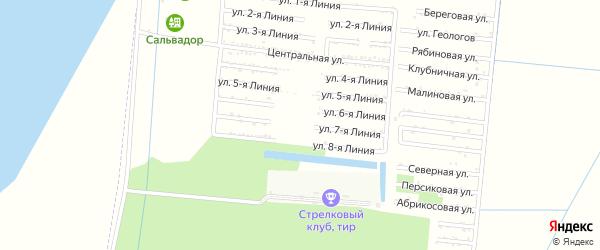 Улица 7 Линия на карте садового некоммерческого товарищества Первомайца с номерами домов