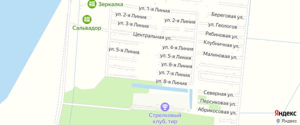 Улица 6 Линия на карте садового некоммерческого товарищества Первомайца с номерами домов