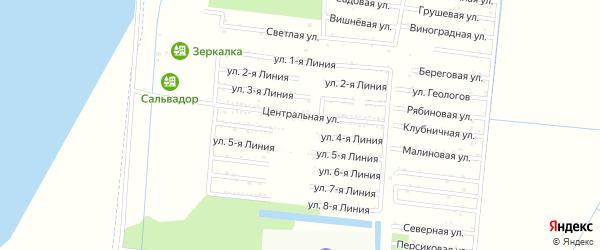 Улица 5 Линия на карте садового некоммерческого товарищества Первомайца с номерами домов