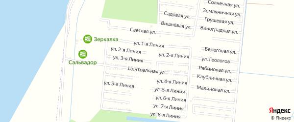 Улица 3 Линия на карте садового некоммерческого товарищества Первомайца с номерами домов
