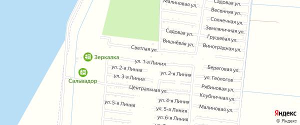 Улица 1 Линия на карте садового некоммерческого товарищества Первомайца с номерами домов
