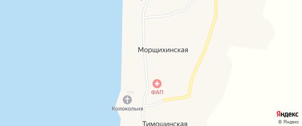Улица 2-я Линия на карте Меньшаковской деревни с номерами домов