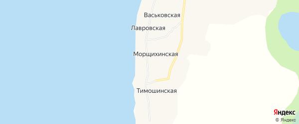 Карта Меньшаковской деревни в Архангельской области с улицами и номерами домов