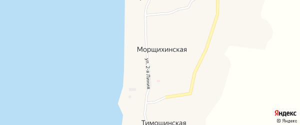 Улица 3-я Линия на карте Меньшаковской деревни с номерами домов