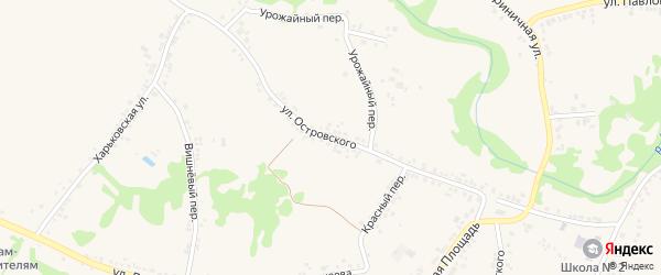 Улица Островского на карте поселка Ровенек с номерами домов