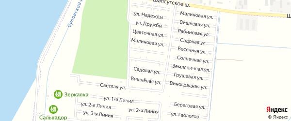 Виноградная улица на карте садового некоммерческого товарищества Имени Хуаде с номерами домов