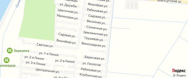 Грушевая улица на карте садового некоммерческого товарищества Имени Хуаде с номерами домов