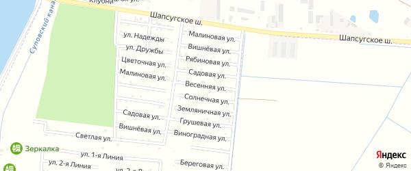 Весенняя улица на карте садового некоммерческого товарищества Имени Хуаде с номерами домов