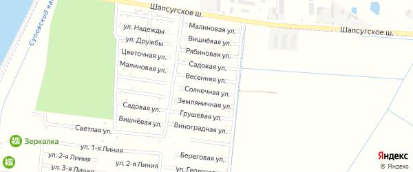 Рябиновая улица на карте садового некоммерческого товарищества Имени Хуаде с номерами домов