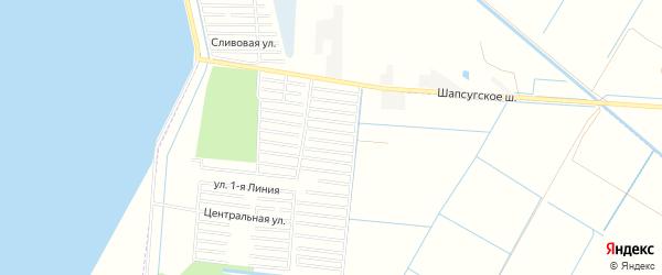 Карта садового некоммерческого товарищества Имени Хуаде в Адыгее с улицами и номерами домов