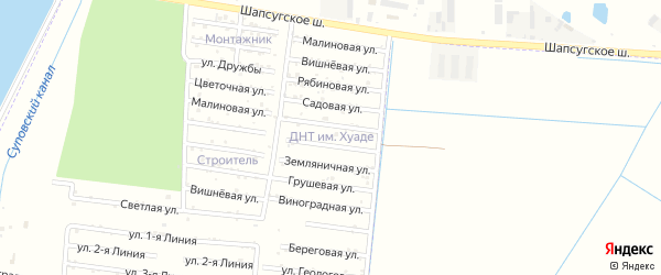 Земляничная улица на карте садового некоммерческого товарищества Имени Хуаде с номерами домов
