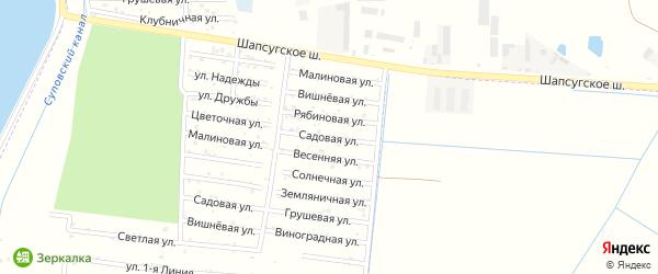 Садовая улица на карте садового некоммерческого товарищества Имени Хуаде с номерами домов