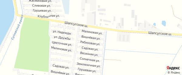 Вишневая улица на карте садового некоммерческого товарищества Имени Хуаде с номерами домов