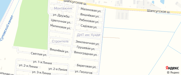 Солнечная улица на карте садового некоммерческого товарищества Имени Хуаде с номерами домов