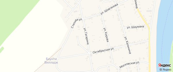 Улица Гагарина на карте аула Старобжегокай с номерами домов