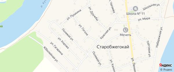 Космическая улица на карте аула Старобжегокай с номерами домов