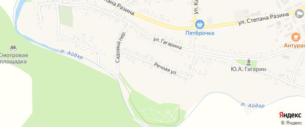 Речная улица на карте поселка Ровенек с номерами домов