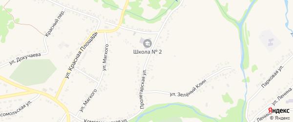 Пролетарская улица на карте поселка Ровенек с номерами домов