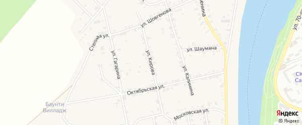 Улица Кирова на карте аула Старобжегокай с номерами домов