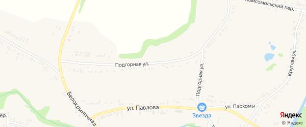 Подгорная улица на карте поселка Ровенек с номерами домов