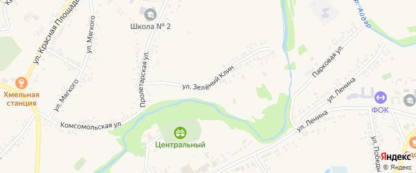 Улица Зеленый Клин на карте поселка Ровенек с номерами домов