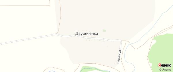 Лесная улица на карте хутора Двуреченки с номерами домов
