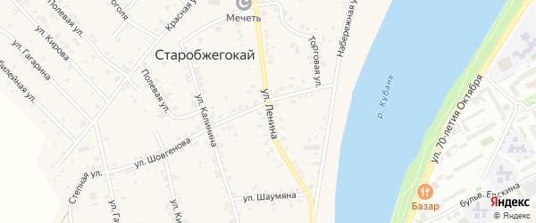Улица Ленина на карте садового некоммерческого товарищества Нового с номерами домов