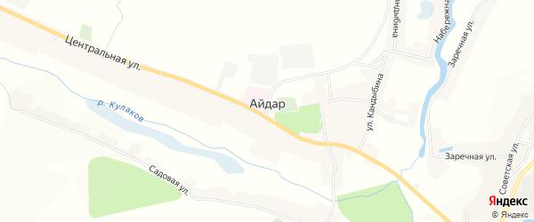 Карта села Айдара в Белгородской области с улицами и номерами домов