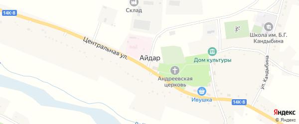 Садовая улица на карте села Айдара с номерами домов