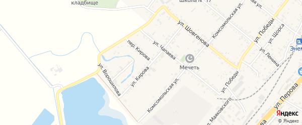 Улица Кирова на карте поселка Энема с номерами домов