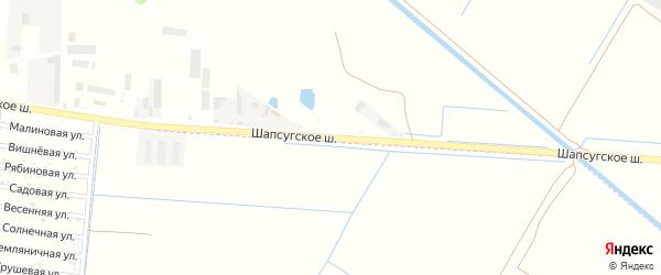Шапсугское шоссе на карте аула Старобжегокай с номерами домов