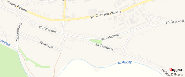 Улица Гагарина на карте поселка Ровенек с номерами домов