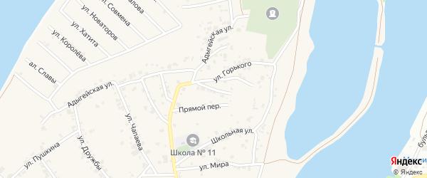 Переулок Ленина на карте аула Старобжегокай с номерами домов