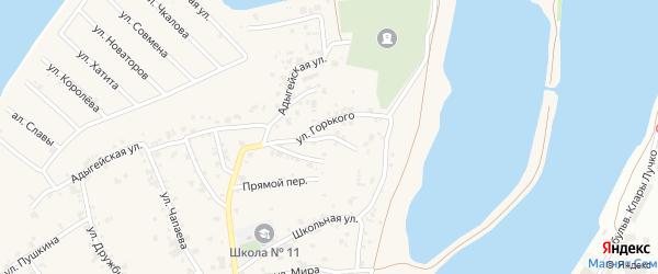 Северный переулок на карте аула Старобжегокай с номерами домов