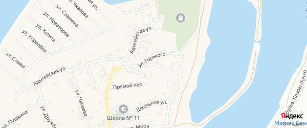 Улица Северная Дамба на карте аула Старобжегокай с номерами домов