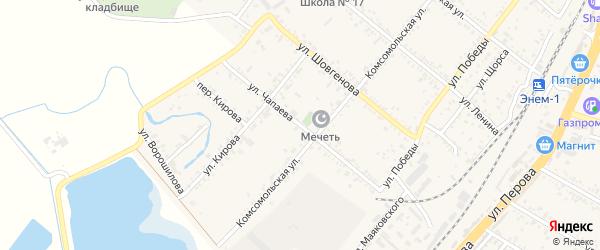 Улица Чапаева на карте поселка Энема с номерами домов