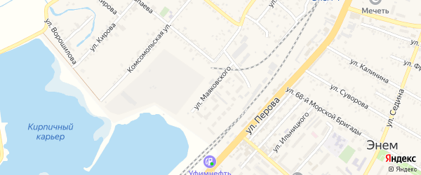 Улица Маяковского на карте поселка Энема с номерами домов