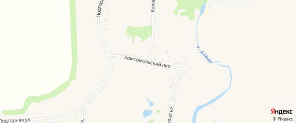Комсомольский переулок на карте поселка Ровенек с номерами домов