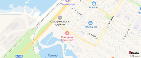 Улица Геологов на карте поселка Энема с номерами домов