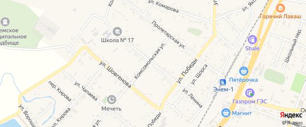 Улица Ленина на карте поселка Энема с номерами домов