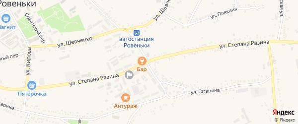 Улица Ст. Разина на карте поселка Ровенек с номерами домов