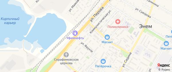 Улица Перова на карте поселка Энема с номерами домов