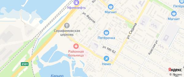 Переулок Фрунзе на карте поселка Энема с номерами домов