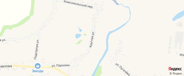 Круглая улица на карте поселка Ровенек с номерами домов