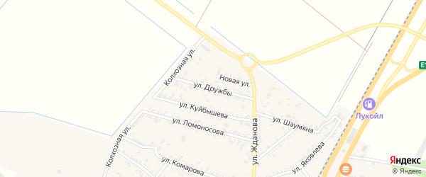 Улица Дружбы на карте поселка Энема с номерами домов